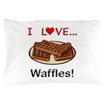 I Love Waffles Pillow Case