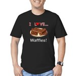 I Love Waffles Men's Fitted T-Shirt (dark)