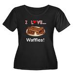 I Love Waffles Women's Plus Size Scoop Neck Dark T
