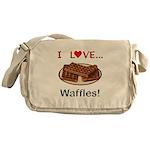 I Love Waffles Messenger Bag