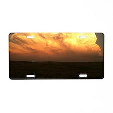 Storm cloud Aluminum License Plate