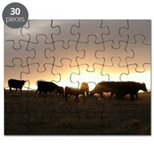 Sunset cows Puzzle