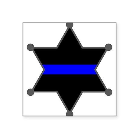 Blue Line Badge 2 Oval Sticker