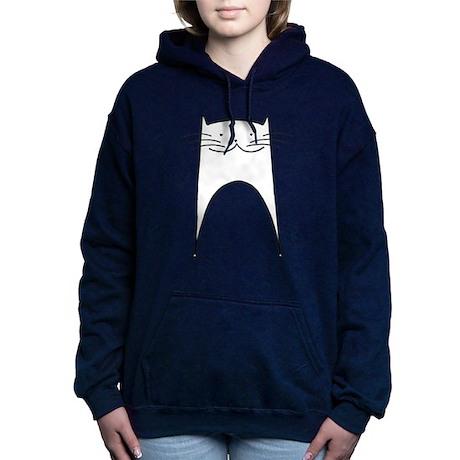 White Cat Hooded Sweatshirt