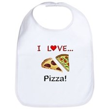 I Love Pizza Bib