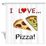 I Love Pizza Shower Curtain