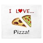 I Love Pizza King Duvet