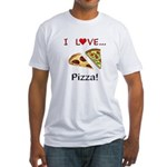 I Love Pizza Fitted T-Shirt