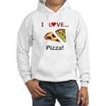 I Love Pizza Hooded Sweatshirt
