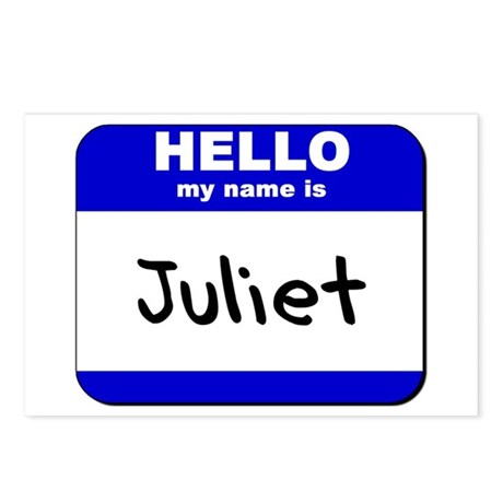 hello my name is juliet Postcards (Package of 8)