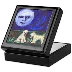 Moon w Wheatens Keepsake Box