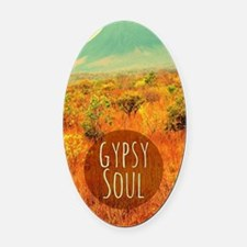 Gypsy Soul  Oval Car Magnet
