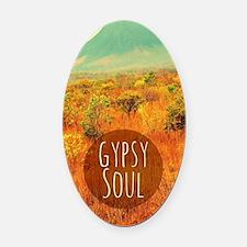 Gypsy Soul  Oval Car Magnet