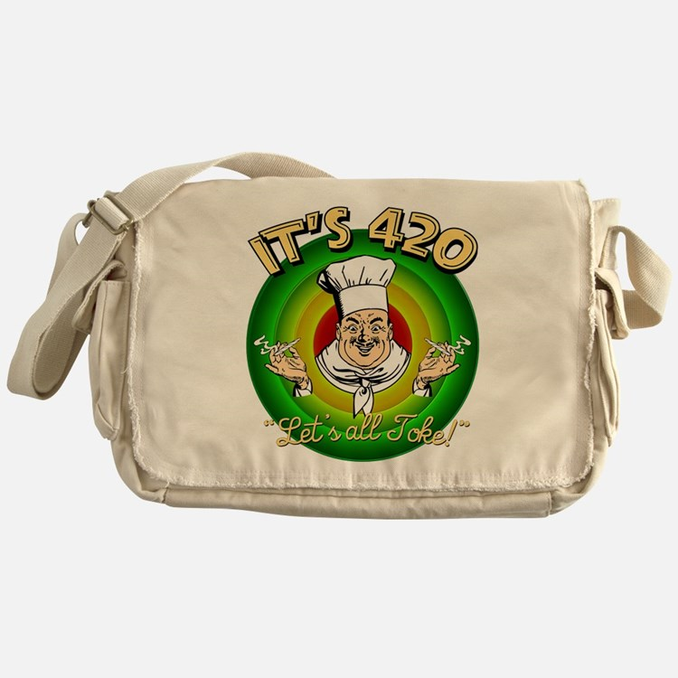 It's 420 Let's all Toke! Messenger Bag