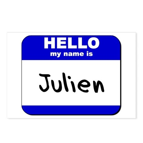 hello my name is julien Postcards (Package of 8)