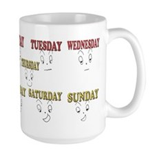 7 days funny face Mugs