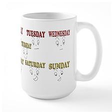 7 days funny face Mugs