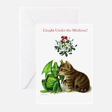 Holiday Greetings Under The Mistletoe Greeting Car