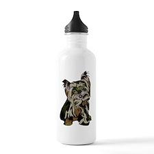Yorkie Camo Water Bottle