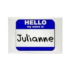 hello my name is julianne Rectangle Magnet