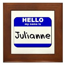 hello my name is julianne  Framed Tile