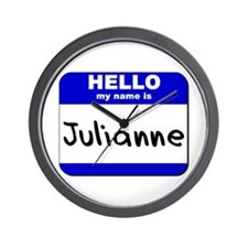 hello my name is julianne  Wall Clock