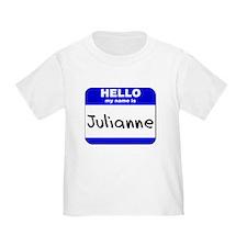 hello my name is julianne T