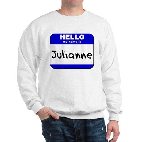 hello my name is julianne Sweatshirt