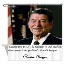 Reagan Govt Is Problem Shower Curtain