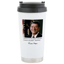 Reagan Govt Is Problem Travel Mug