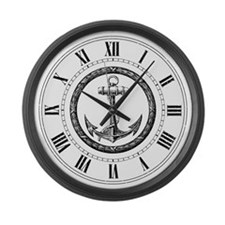 Vintage Anchor Large Wall Clock