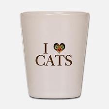 I Love Cats Shot Glass