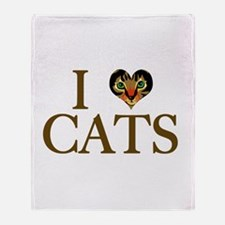I Love Cats Throw Blanket