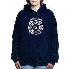 Firefighters Wife Patriotic Hooded Sweatshirt
