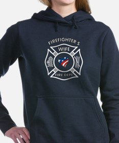 Firefighters Wife Patriotic Hooded Sweatshirt