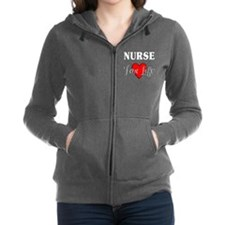 Nurse For Life Zip Hoodie