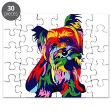 Bright Rainbow Yorkie Puzzle