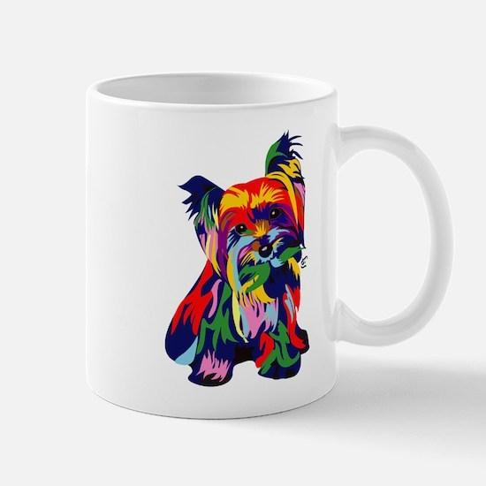 Bright Rainbow Yorkie Mug