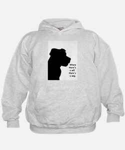 where theres a will theres a wag Hoodie