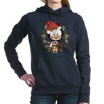Christmas Penguin Holiday Wreath Hooded Sweatshirt