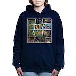 Peacock Cartoon - Hooded Sweatshirt