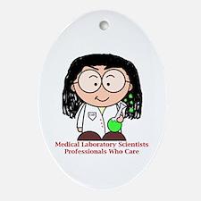 Medical Laboratory Professionals Ornament (Oval)