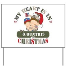 Christmas Soldier Dad/Mom Yard Sign