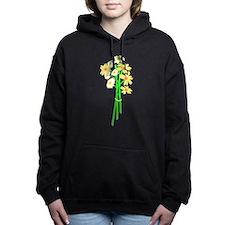 white flower bouquet.png Hooded Sweatshirt