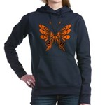 'Butterfly Tattoos Women's Hooded Sweatshirt