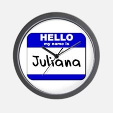 hello my name is juliana  Wall Clock