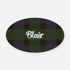 Blair Tartan Oval Car Magnet