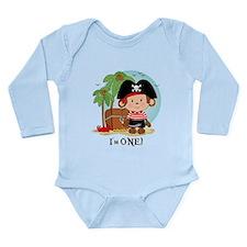 Monkey Pirate 1st Birthday Long Sleeve Infant Body