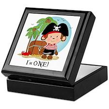 Monkey Pirate 1st Birthday Keepsake Box