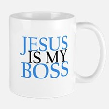 Jesus is my boss Mugs